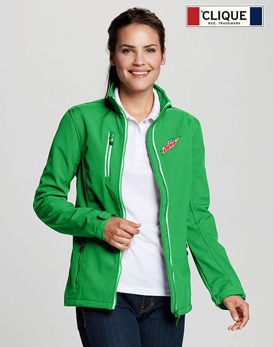 Clique Ladies' Telemark Softshell Jacket - MTN Dew