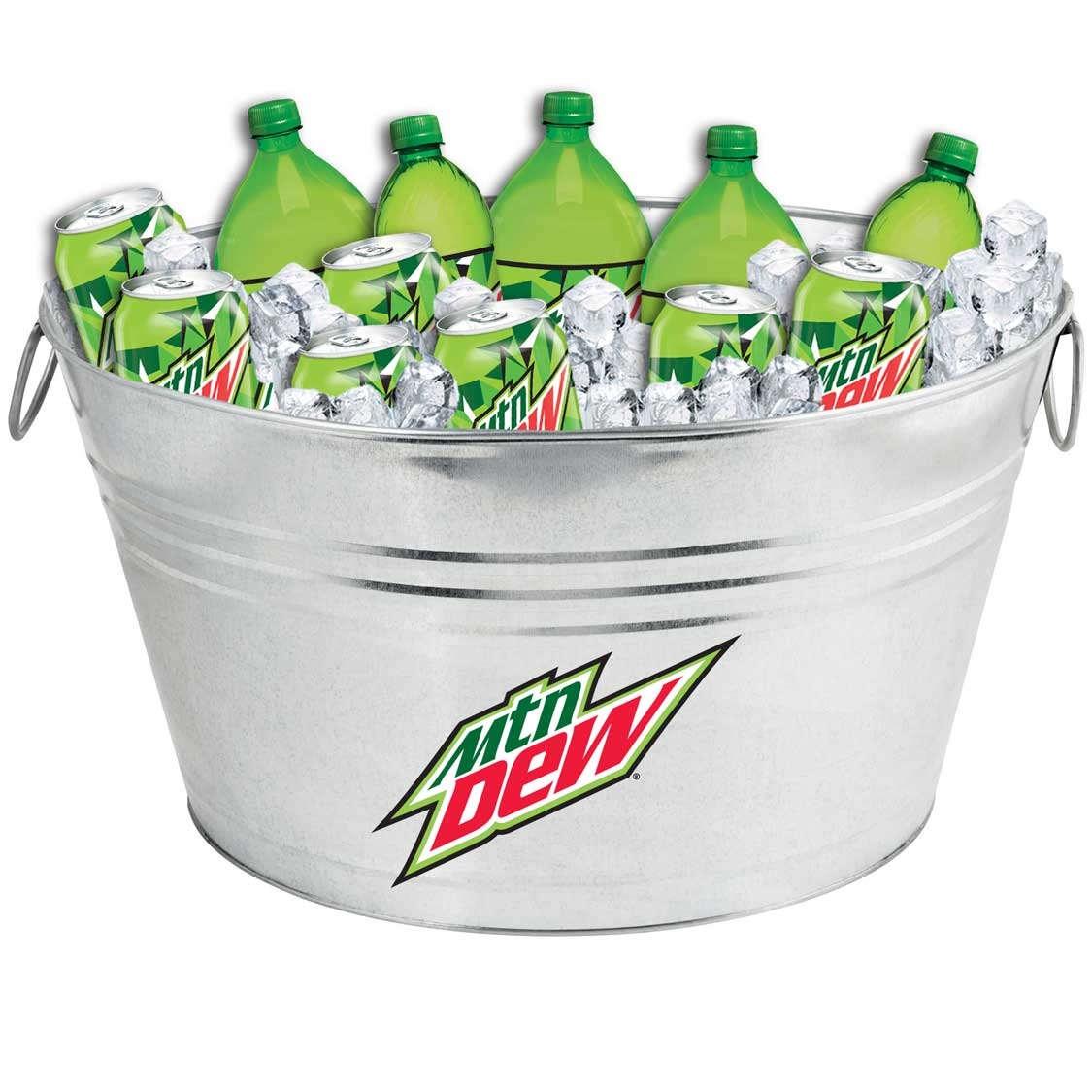 Oval Galvanized Metal Tub - MTN Dew