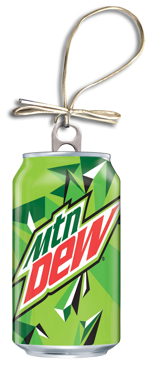 MTN Dew Holiday Can Ornament