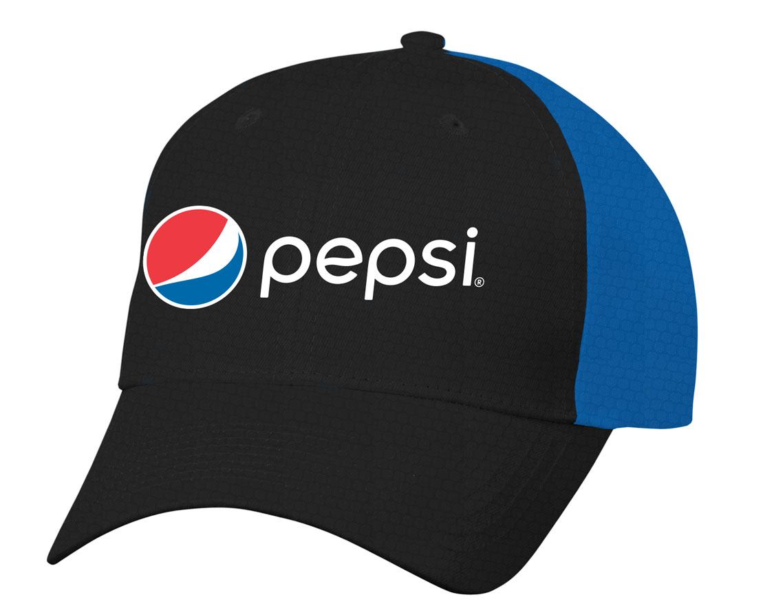 Pepsi Diamond Pattern Dri Fit Cap - Black/Royal