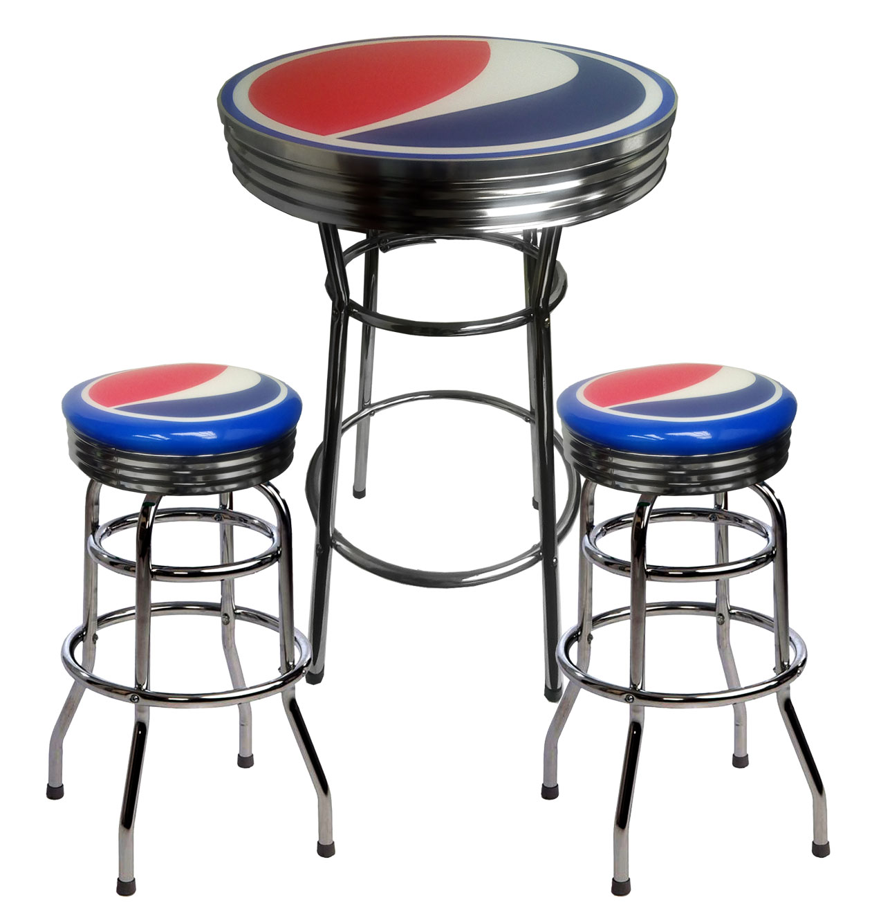 Pepsi Bar Table and 2 Stools
