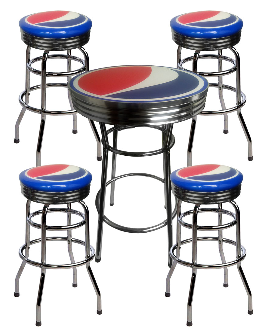 Pepsi Bar Table and 4 Stools