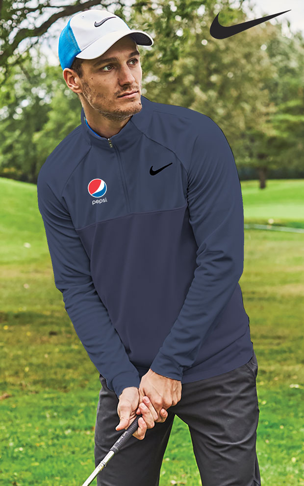 Men's Nike Dry Top 1/2 Zip Essential - Pepsi