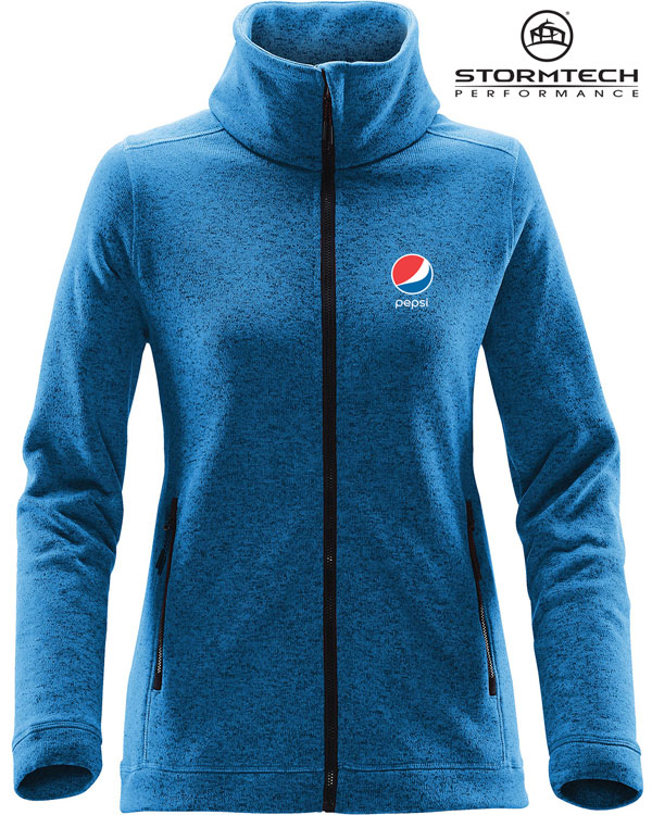 Women's Tundra Sweater Fleece Jacket - Pepsi
