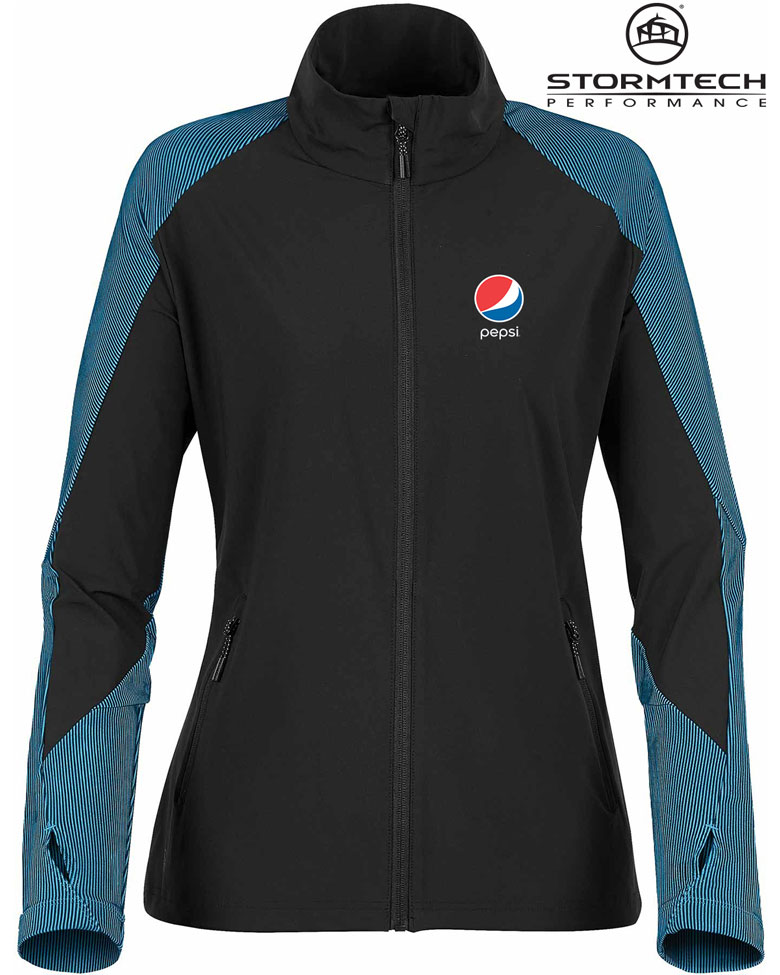 Women's Octane Lightweight Shell Jacket- Pepsi