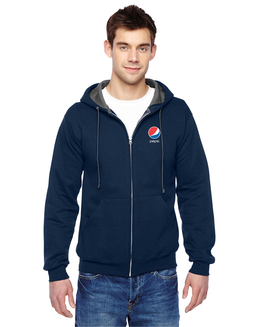 Adult Full-Zip Hooded Sweatshirt - Pepsi
