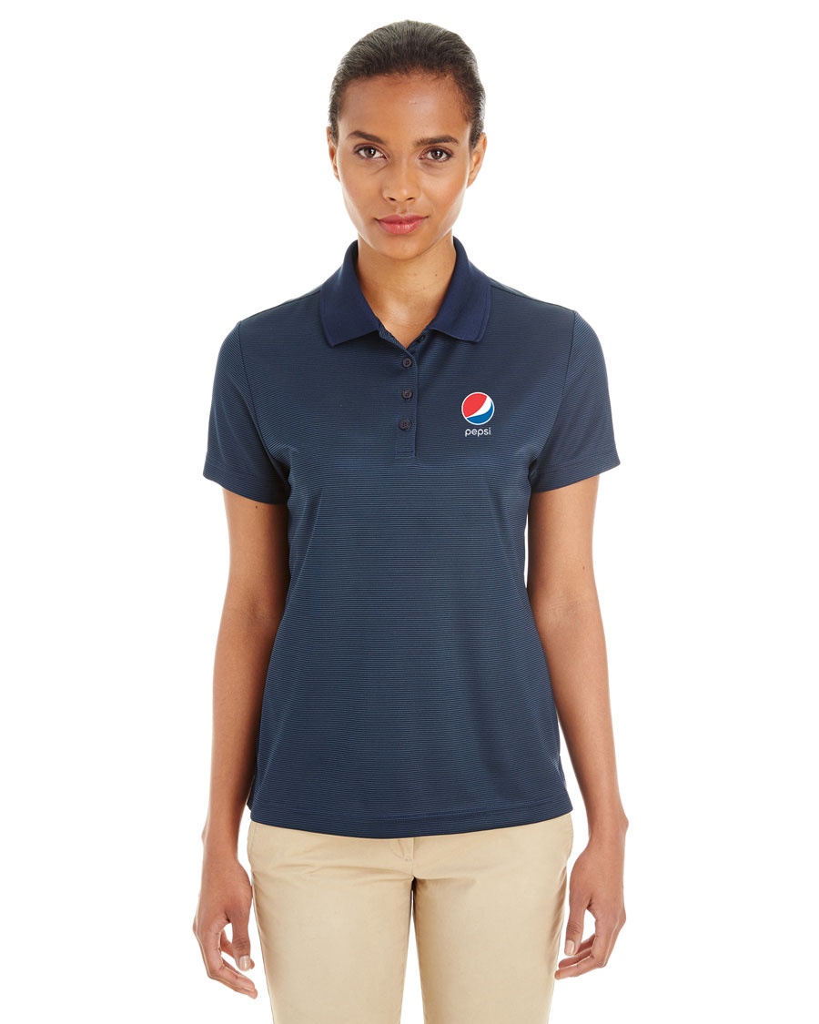 Ladies' Express Microstripe Performance Piqué Polo - Pepsi