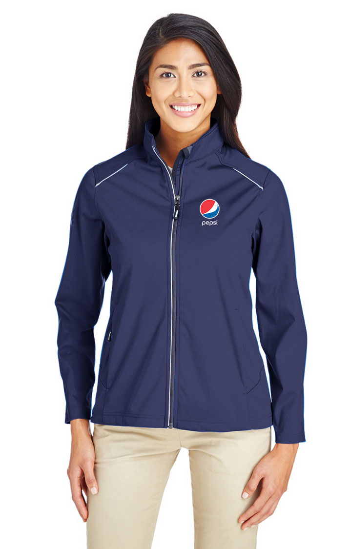 Ladies' Techno Lite Three-Layer Knit Tech-Shell Jacket - Pepsi