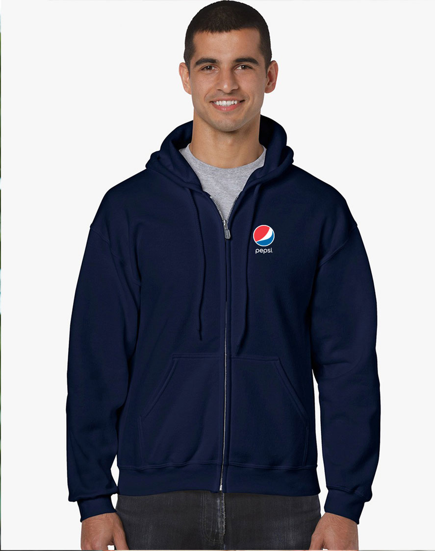 Full Zip Hooded Sweatshirt - Pepsi