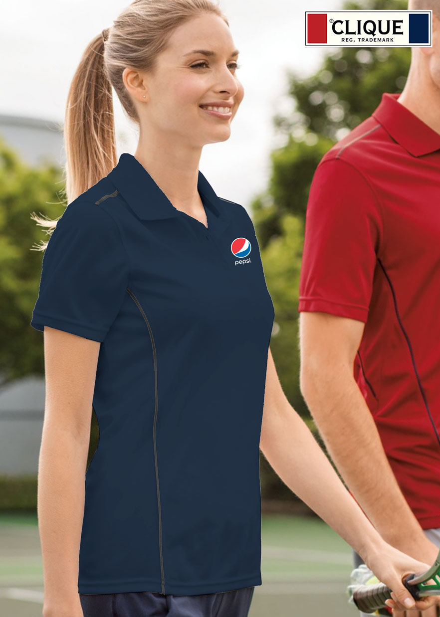 Clique Ladies' Ice Sport Lady Polo - Pepsi