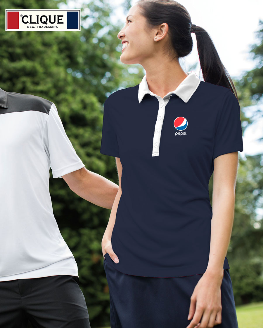 Clique Ladies' Parma Colorblock Lady Polo - Pepsi
