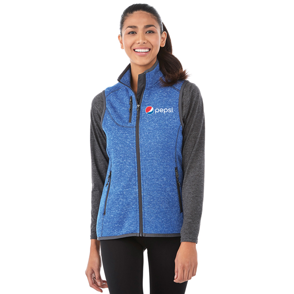 Ladies Fontaine Knit Vest Pepsi