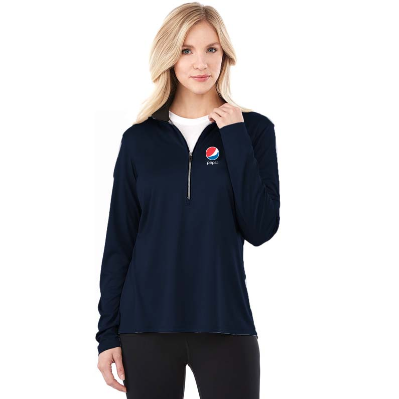 Ladies Vega Tech Half Zip Pepsi