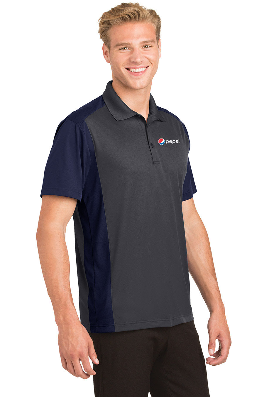 Men's Colorblock Micropique Sport-Wick® Polo Pepsi