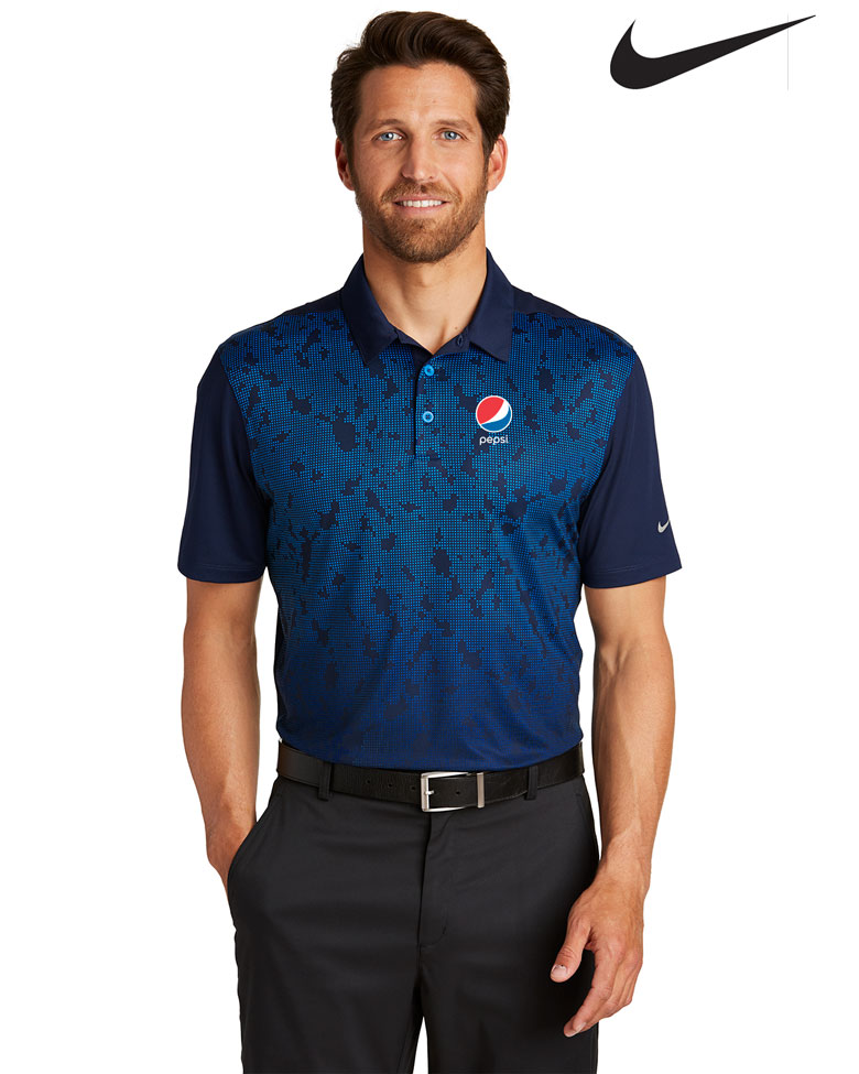 Nike Men's Golf Dri-FIT Mobility Pattern Polo - Pepsi