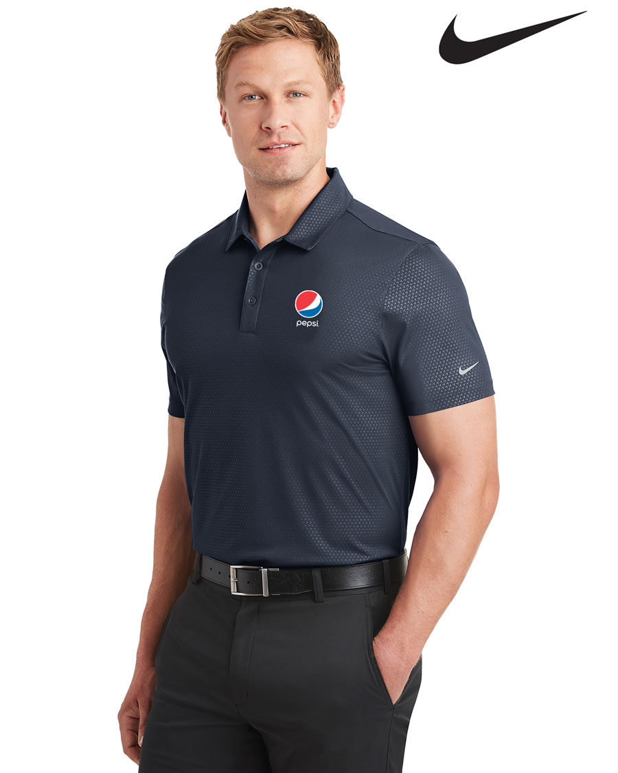 Nike Golf Men's Dri-FIT Embossed Tri-Blade Polo Pepsi