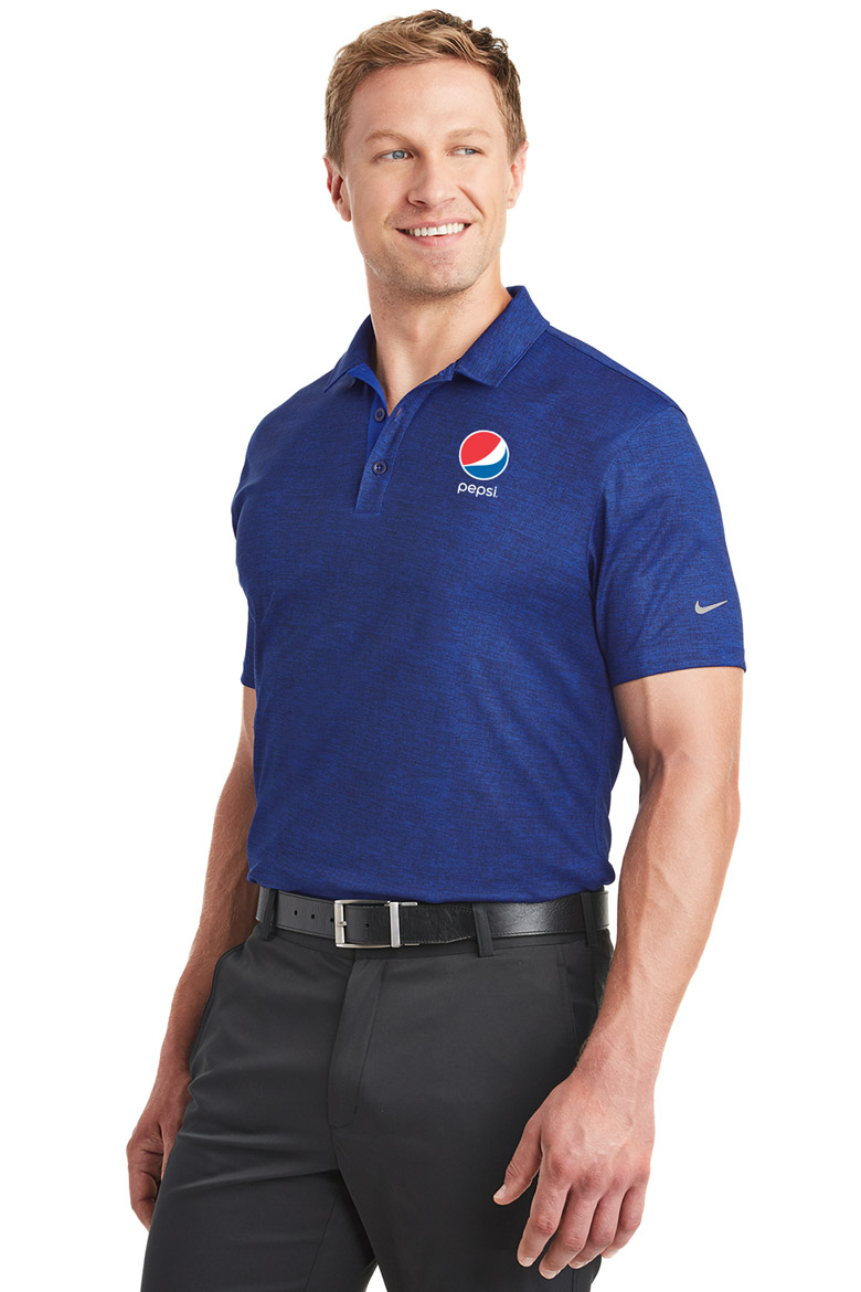 Nike Golf Men's Dri-FIT Crosshatch Polo Pepsi