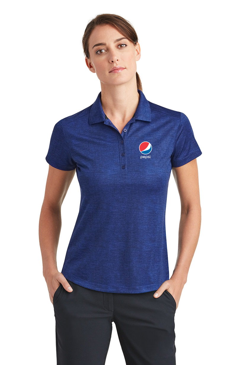 Nike Golf Ladies' Dri-FIT Crosshatch Polo Pepsi