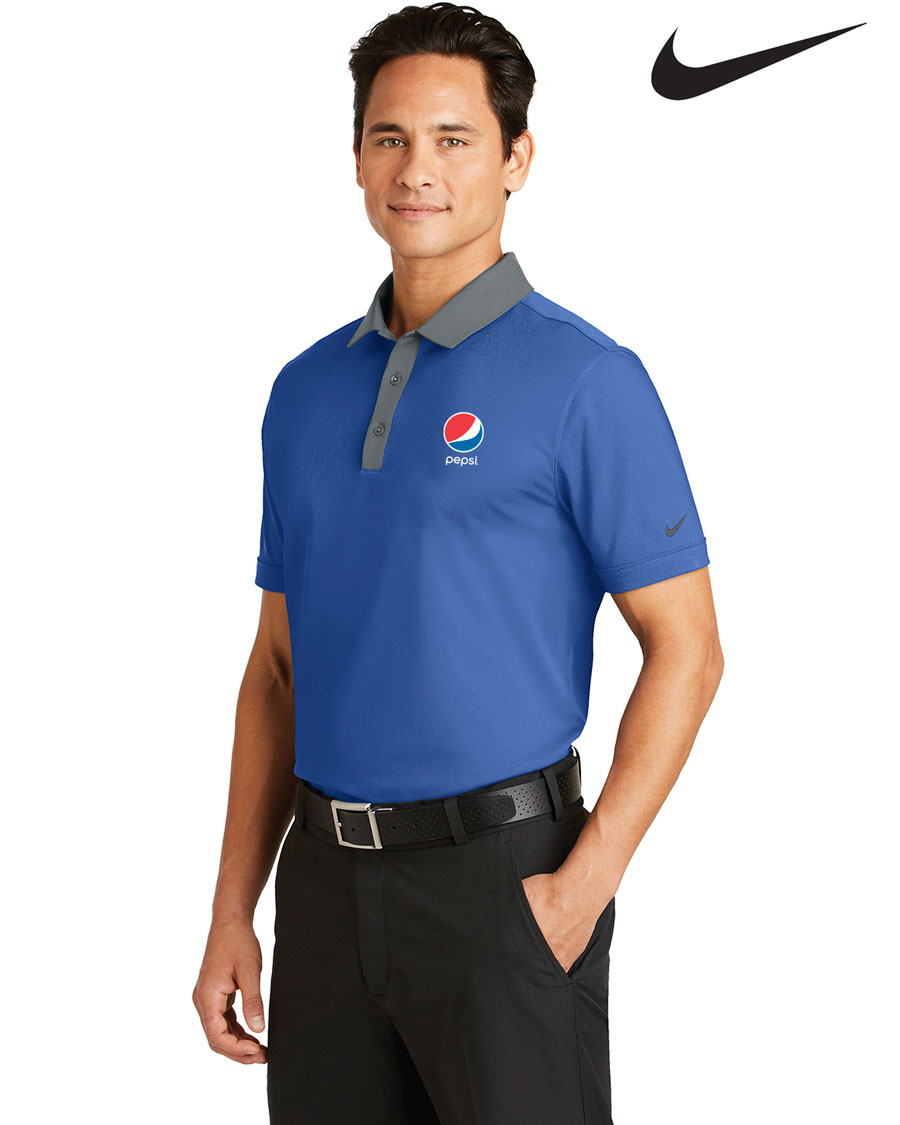 Nike Golf Men's Dri-FIT Heather Pique Modern Fit Polo Pepsi