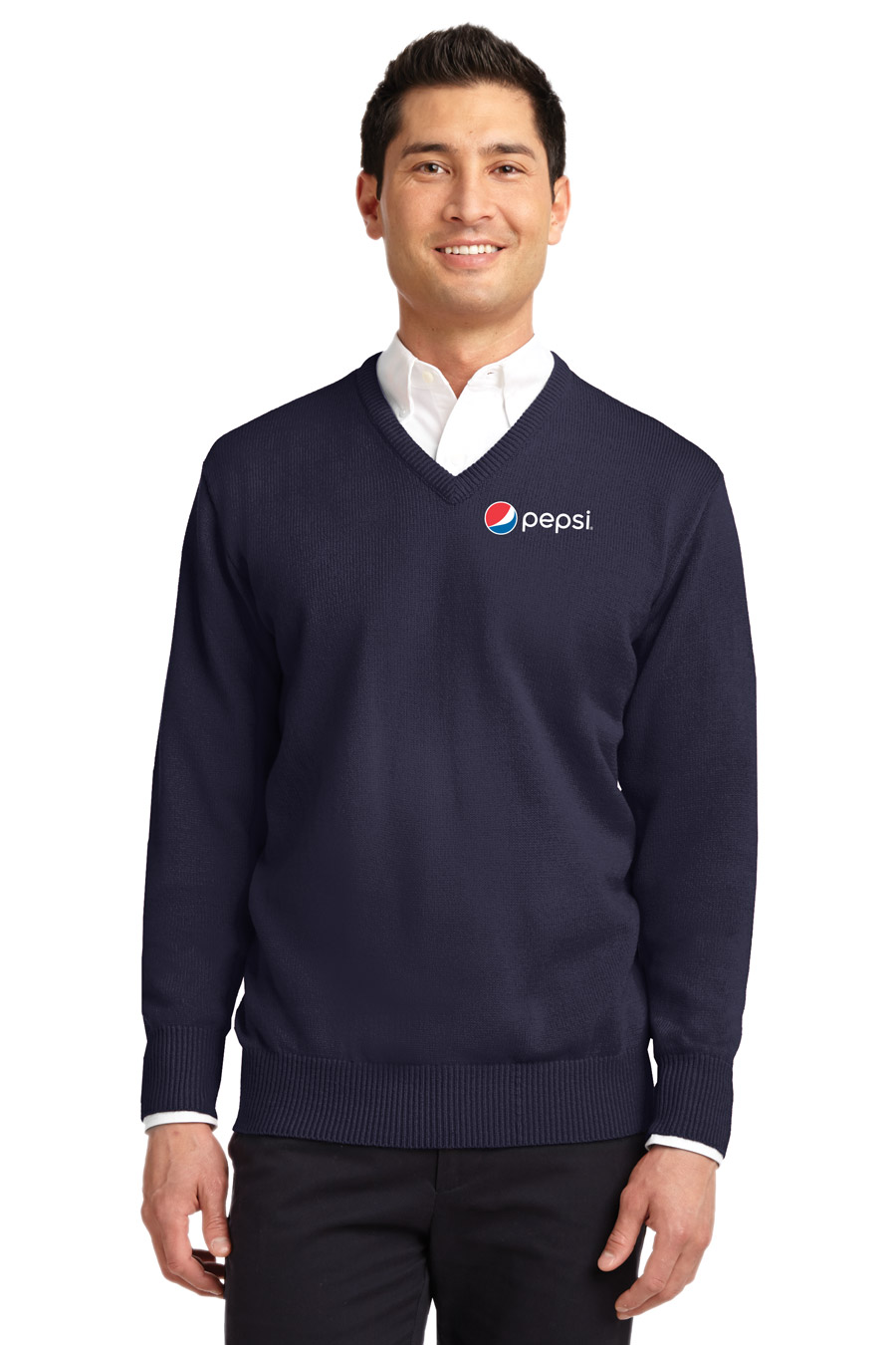 Men's  Value V-Neck Sweater Pepsi