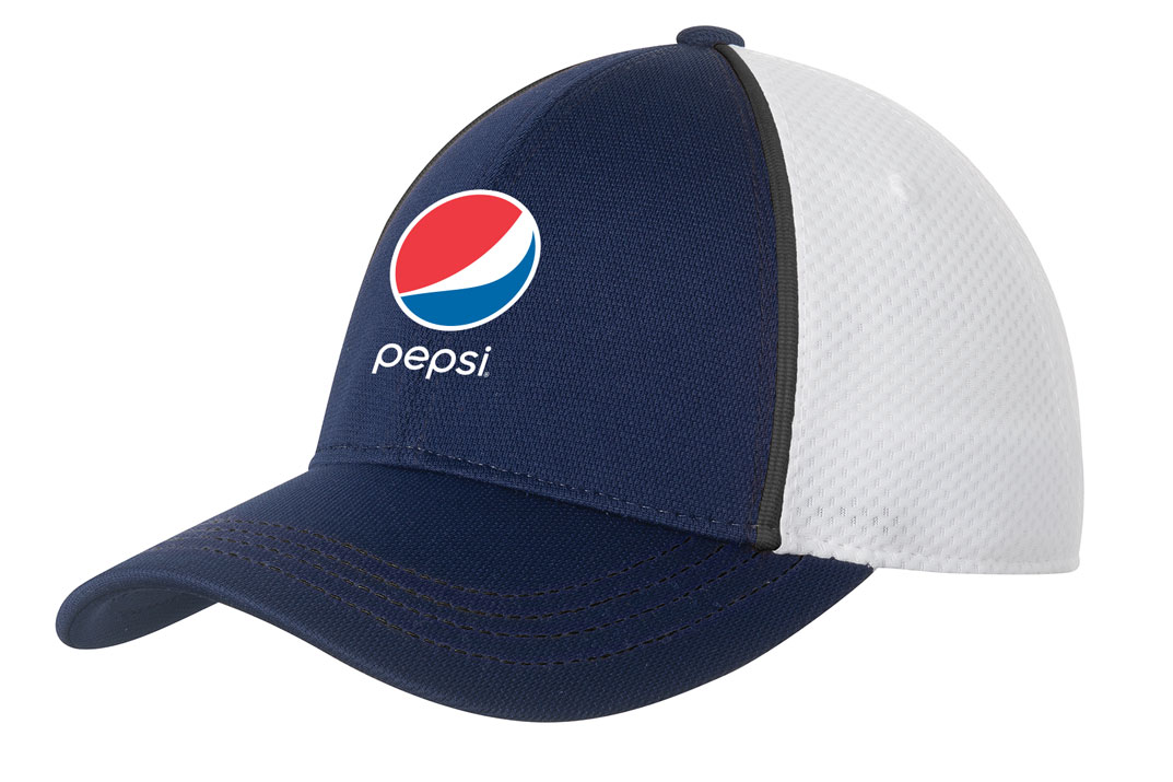 Piped Mesh Back Cap - Pepsi