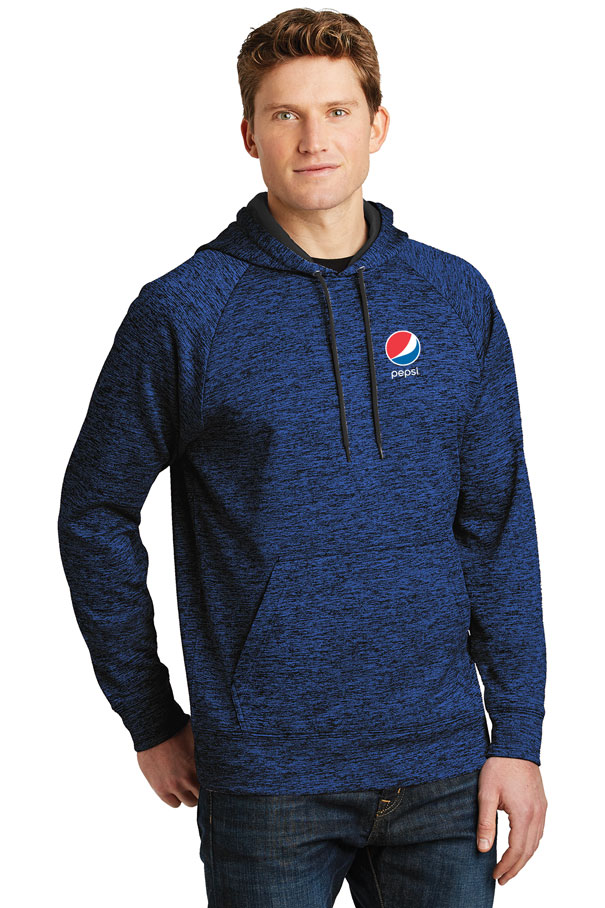 Men's PosiCharge® Electric Heather Fleece Hooded Pullover - Pepsi