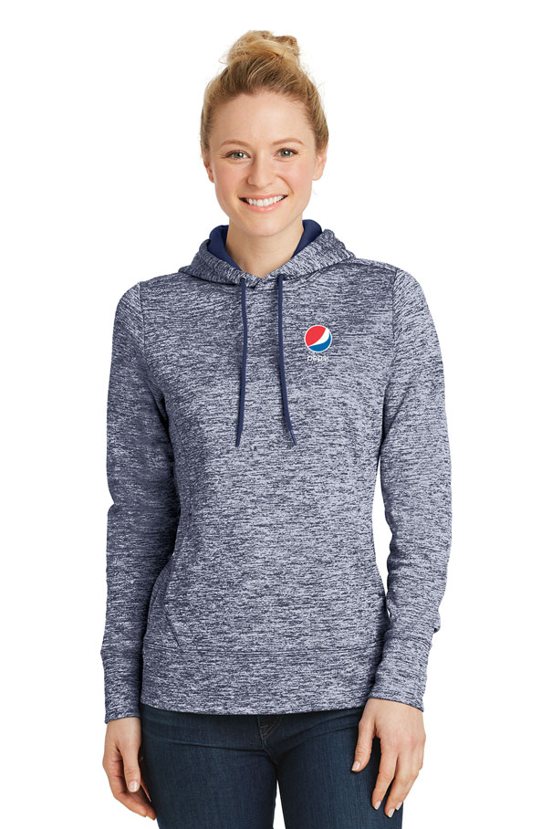 Ladies' PosiCharge® Electric Heather Fleece Hooded Pullover - Pepsi