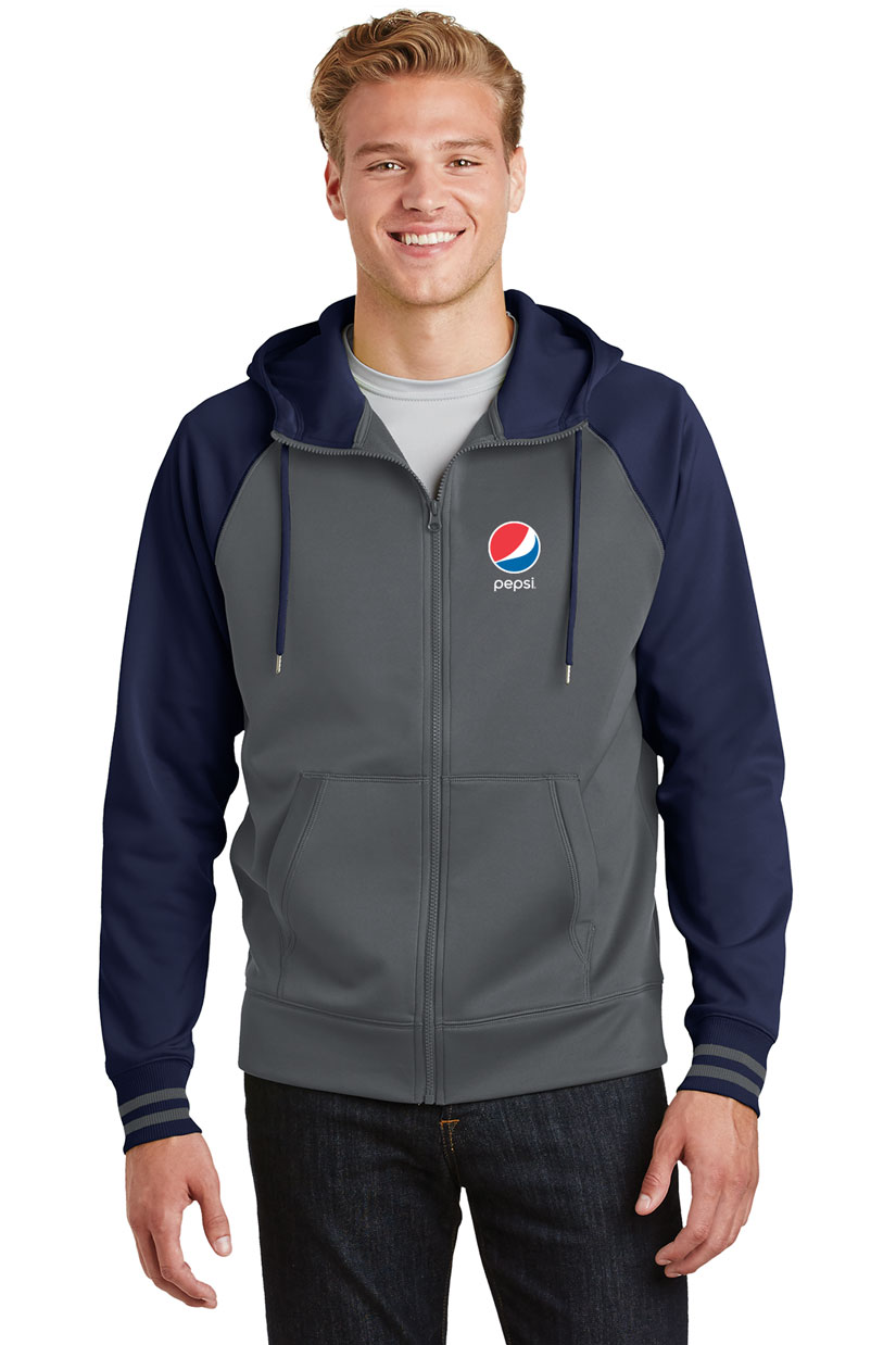 Men's Sport-Wick® Varsity Fleece Full-Zip Hooded Jacket Pepsi
