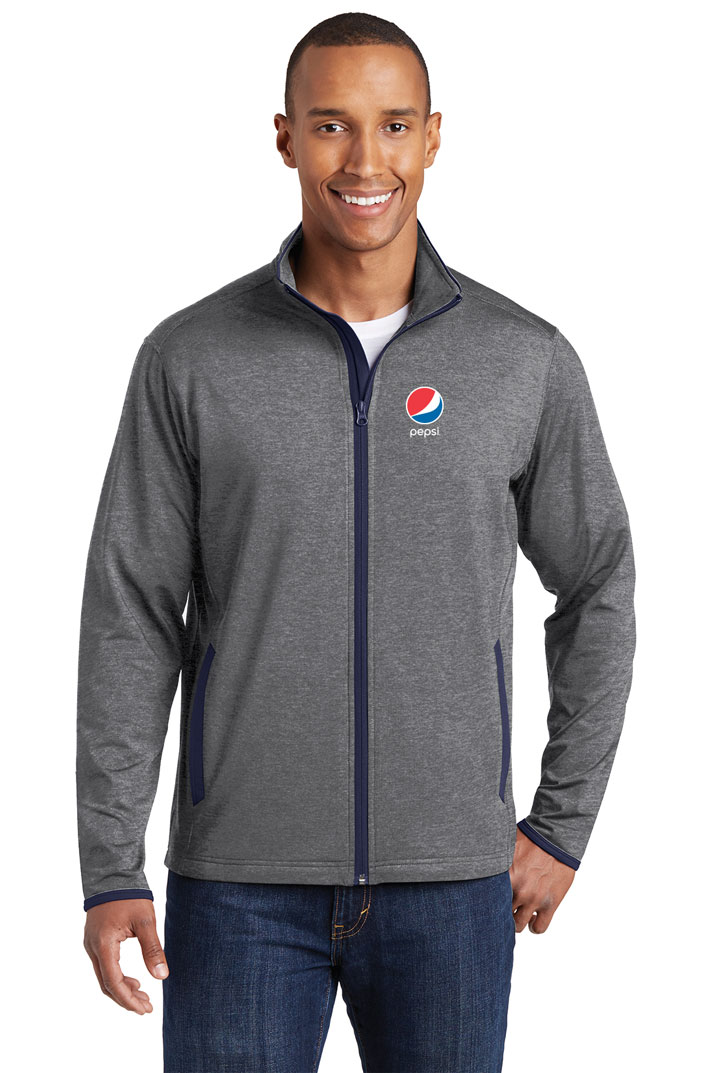 Men's Sport-Wick® Stretch Contrast Full-Zip Jacket - Pepsi