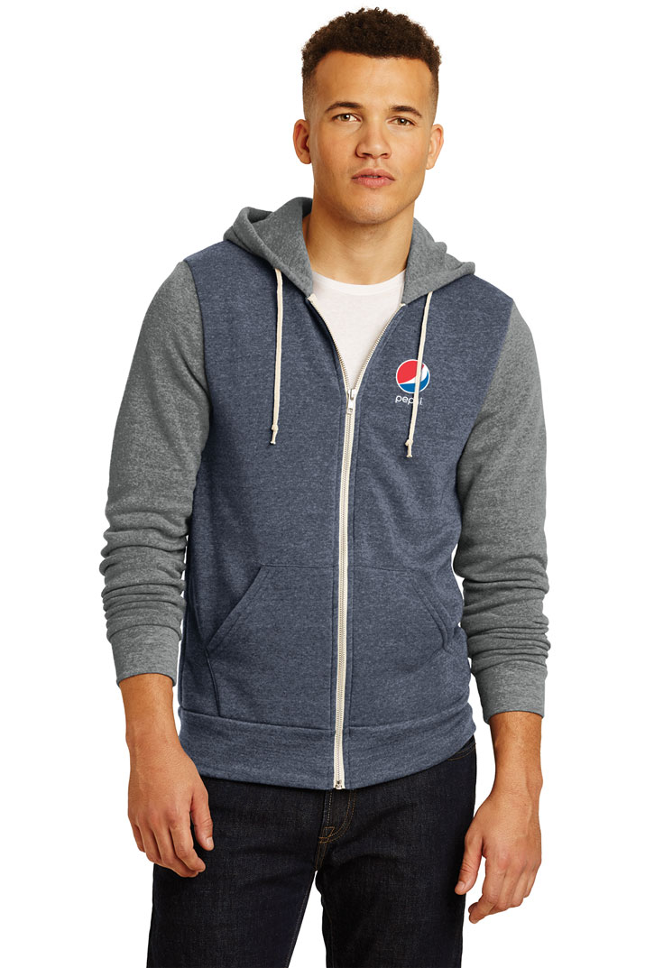 Men's Alternative Colorblock Rocky Eco™-Fleece Zip Hoodie - Pepsi