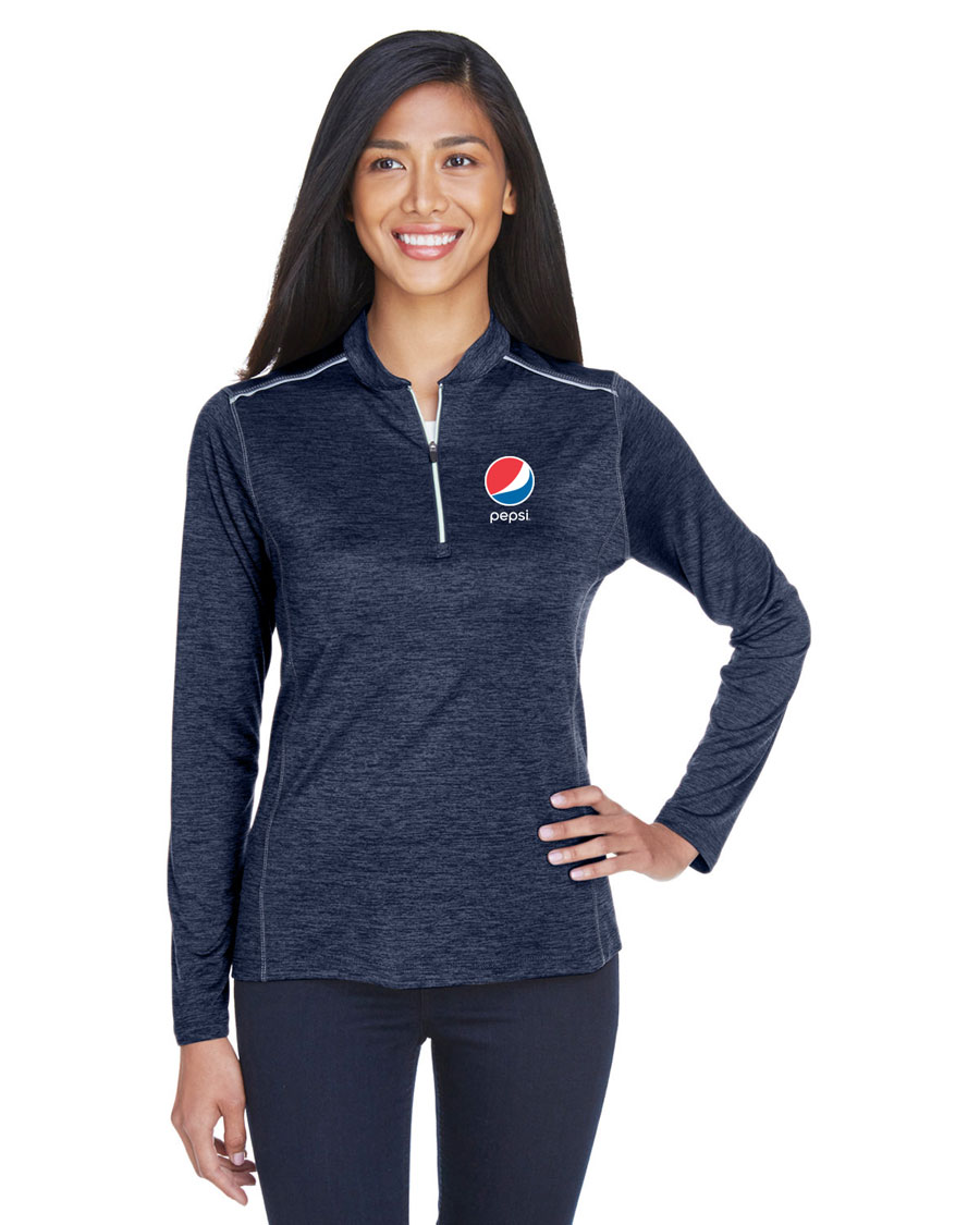 Ladies' Kinetic Performance Quarter-Zip - Pepsi