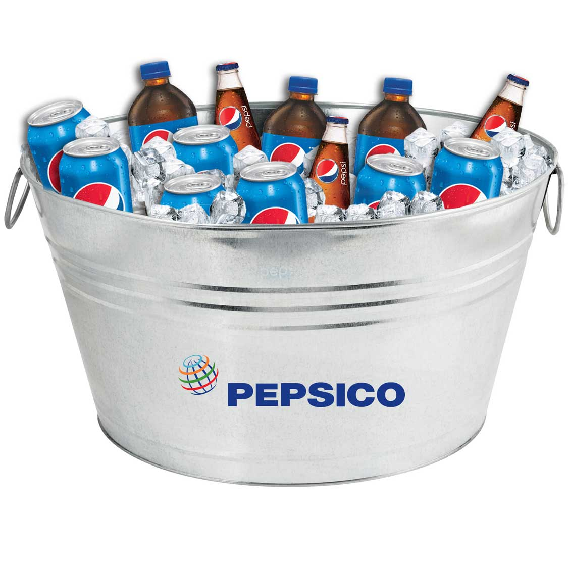 Oval Galvanized Metal Tub - Pepsico