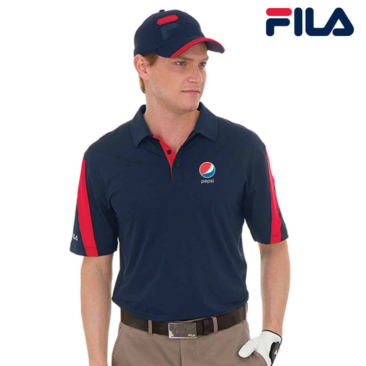 FILA Men's Scottsdale Polo - Pepsi