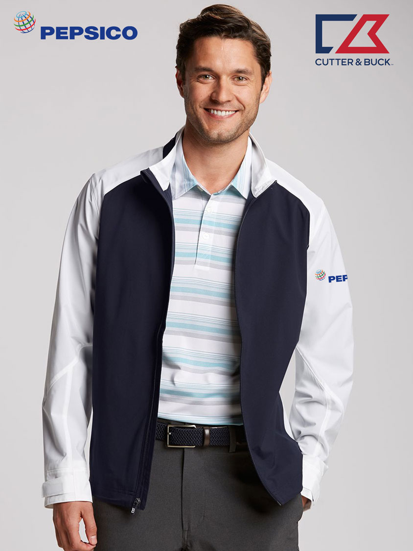 Cutter & Buck Men's Summit Full Zip Jacket - Pepsi