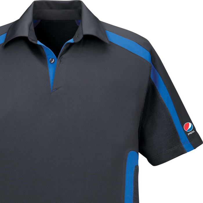 Accelerate Men's Cool Logic Performance Polo - Pepsi