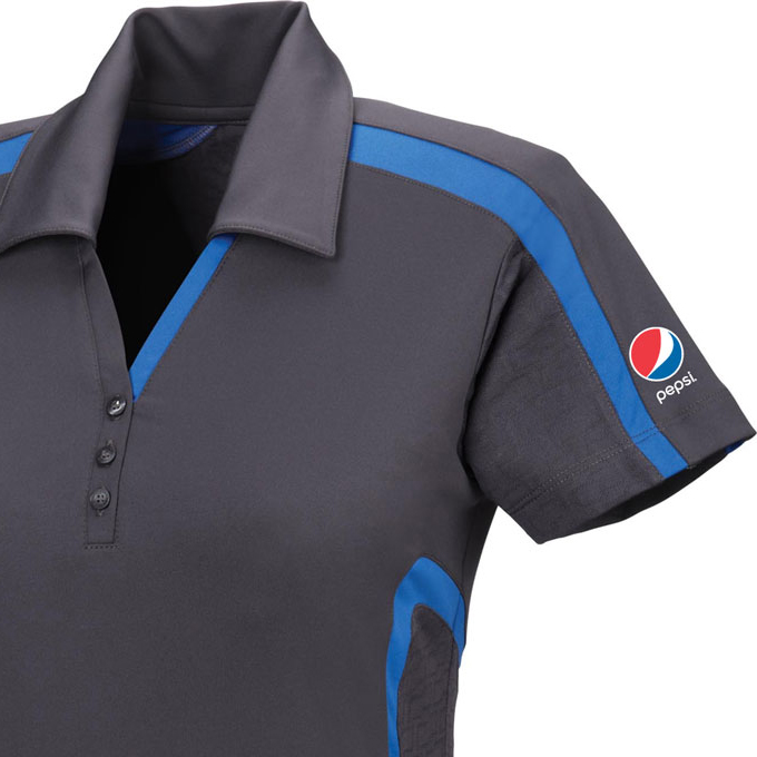 Accelerate Ladies' Cool Logic Performance Polo - Pepsi