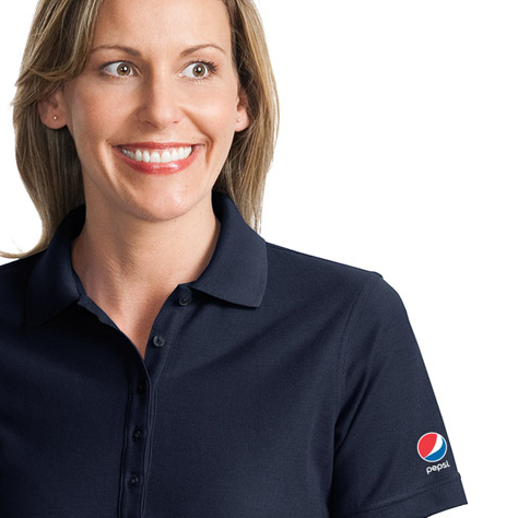 Ladies' EZCotton Pique Polo - Pepsi