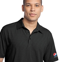 District Made  - Men's Slub Polo - Pepsi