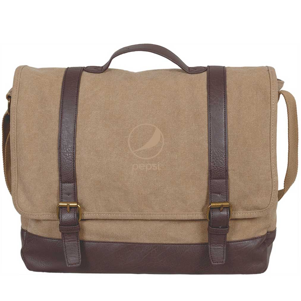 Kensington Messenger Bag - Pepsi - Khaki