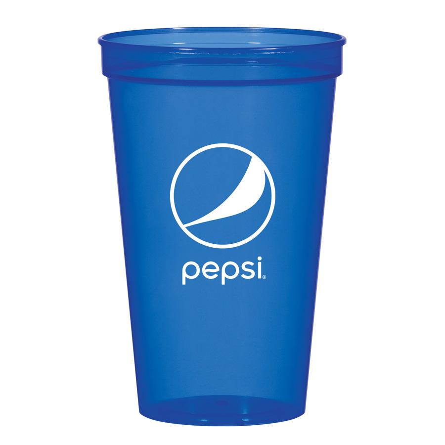 22 Oz Translucent Stadium Cup Pepsi