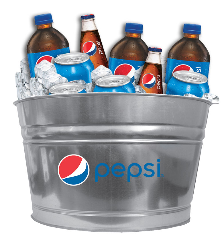 4.25 Gallon Galvanized Metal Bucket - Pepsi
