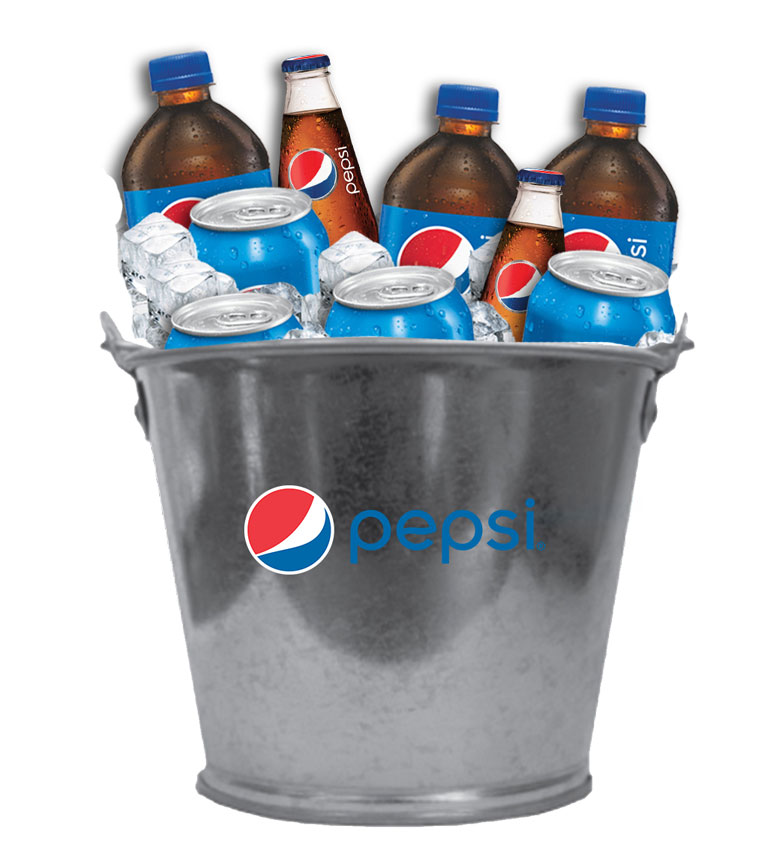 2 Quart Galvanized Metal Bucket - Pepsi