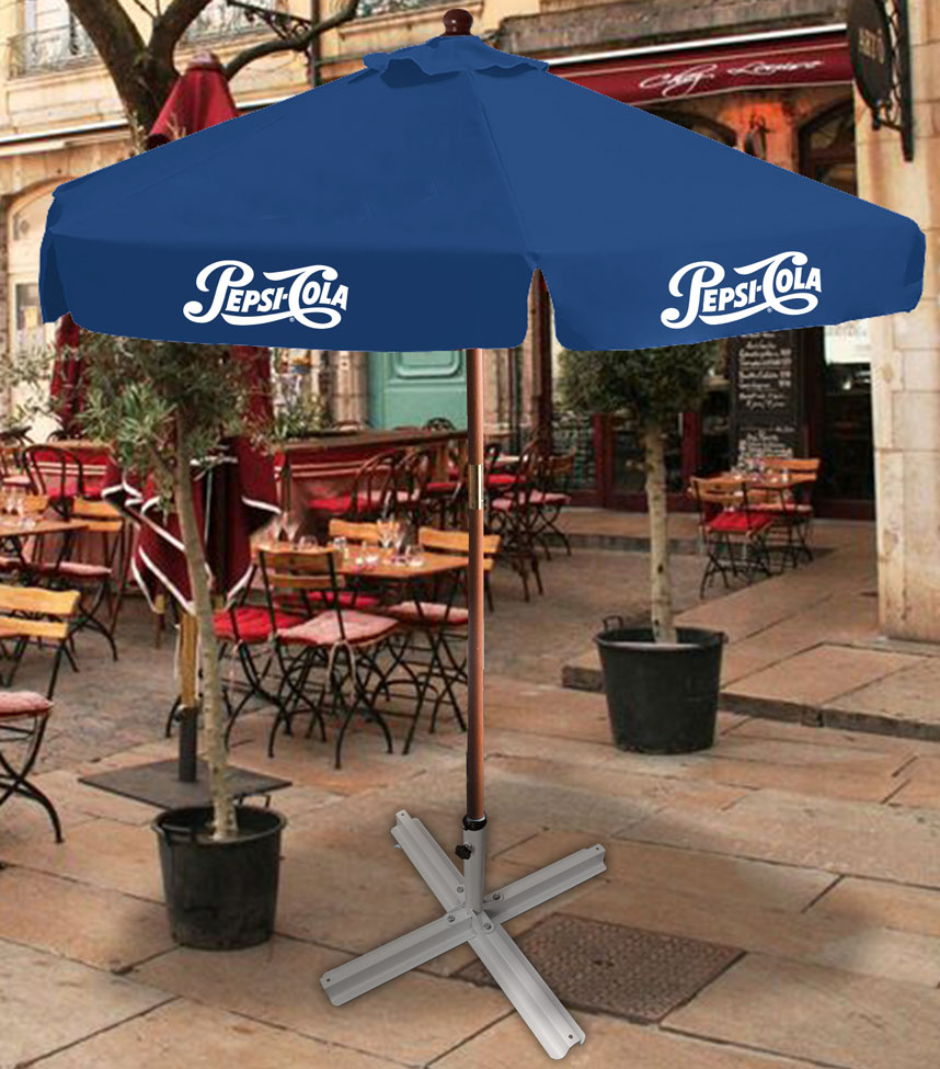 7ft Wooden Flap Umbrella - Pepsi Cola