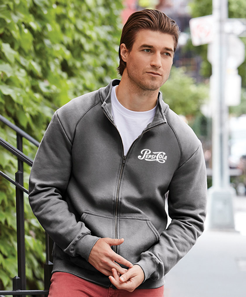Premium Cotton Ring Spun Fleece Full Zip - Pepsi