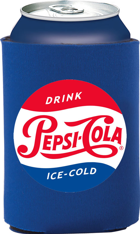 Pepsi Cola Vintage Collapsible Foam Can Holder