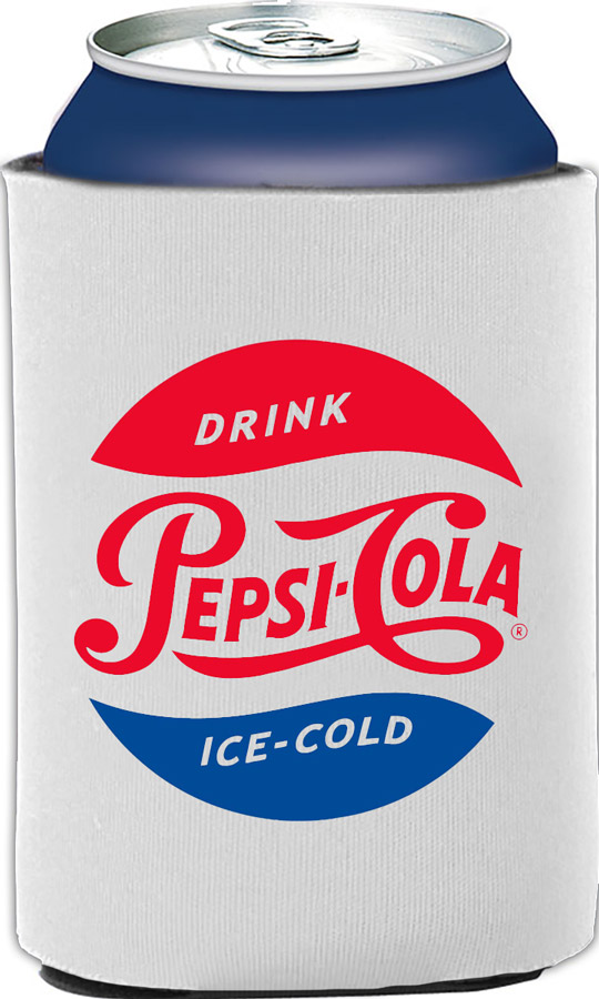 Pepsi Cola Vintage Collapsible Foam Can Holder - White