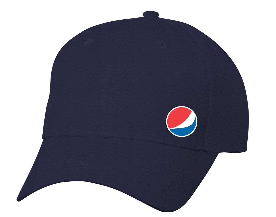Pepsi Globe Diamond Pattern Dri Fit Cap - Navy