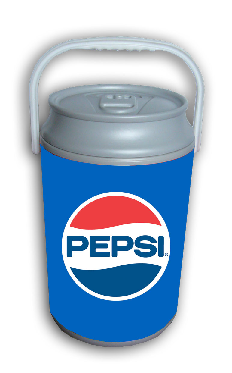 2 Gallon Can Shaped Cooler - Pepsi Retro