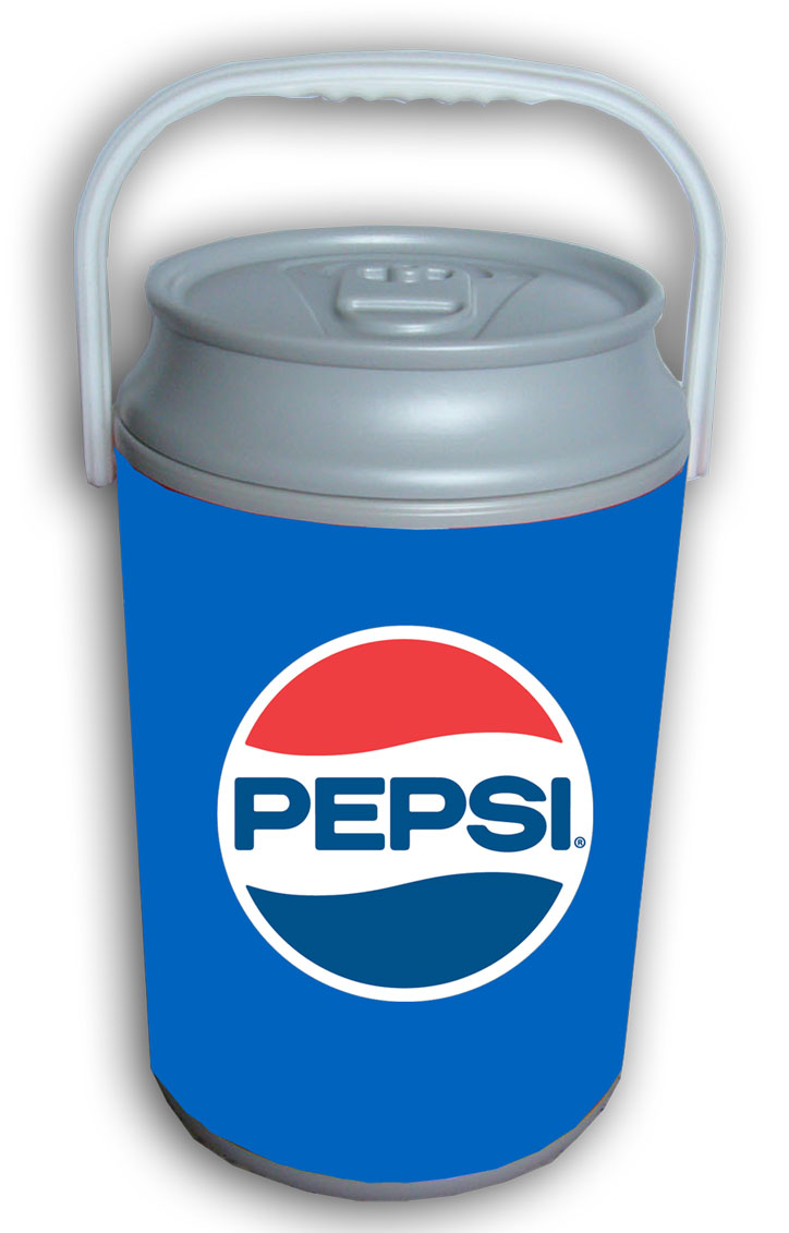5 Gallon Can Shaped Cooler - Pepsi Retro