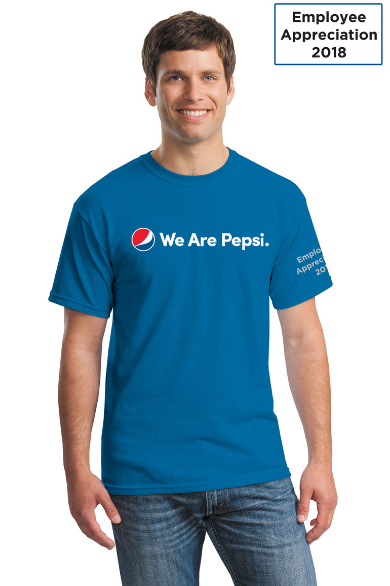Vintage Men's Tshirt - Sapphire - We Are Pepsi